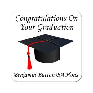 Graduation Mortar Board Hat Coaster