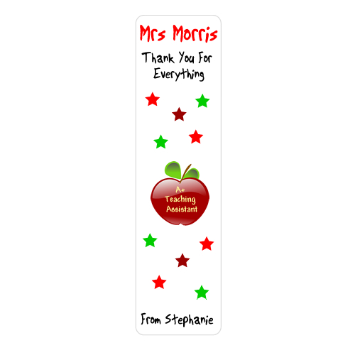 Personalised Teaching Assistant Apple Bookmark