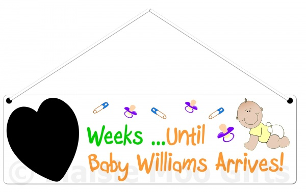 Personalised Countdown Baby Plaque