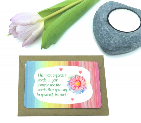 Be Kind Self Care Reminder Metal Wallet Card