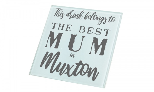 Personalised Best In Glass Gift Coaster