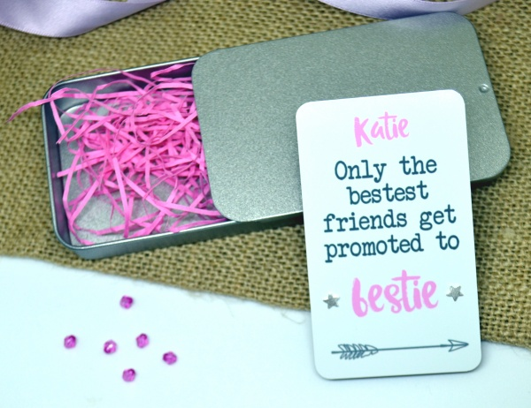 Only The Bestest Friends Get Promoted To Bestie Personalised Earring Gift Set