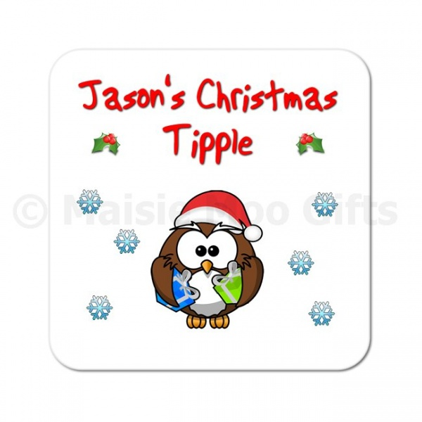 Personalised Christmas Tipple Coaster
