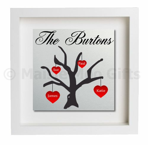Personalised Family Tree Metal Wall Art | Personalised Family Gift ...