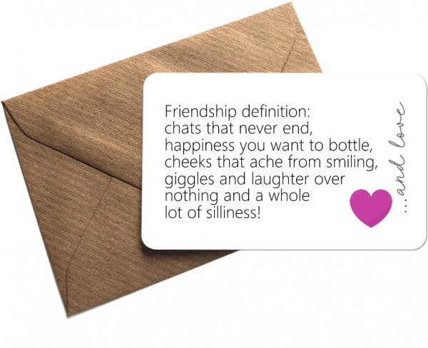 Sentimental Friendship Definition Metal Wallet Card Keepsake