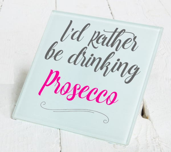 I'd Rather Be Drinking... Glass Coaster