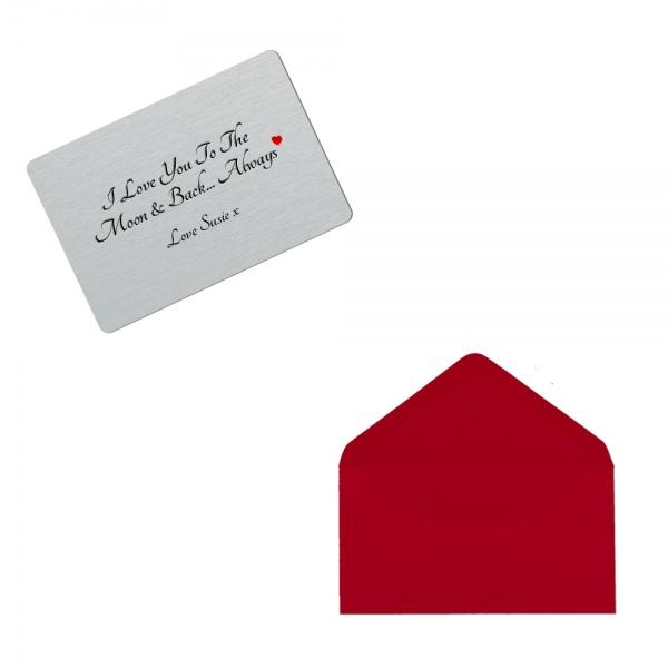 Personalised Girlfriend Wallet Card Personalised Sentimental
