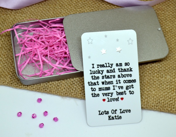 I really am so lucky and thank the stars ... Personalised Earring Gift Set