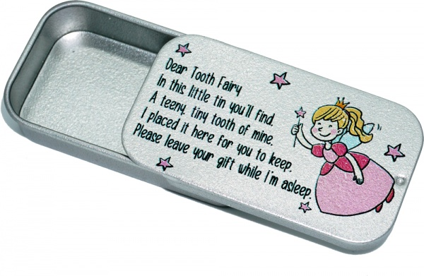 Tooth Fairy Tin With Poem