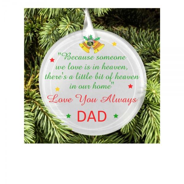 Personalised Christmas Tree Memorial