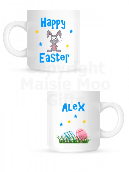 Personalised Happy Easter Ceramic Kids Mug