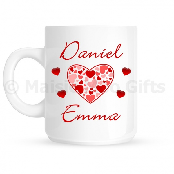 Personalised Love Hearts Mug