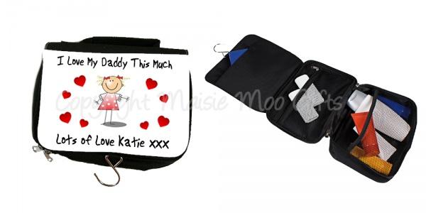 personalised mens toiletry bag personalised mens wash bag