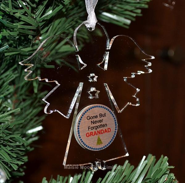 Personalised Angel Memorial Christmas Tree Decoration