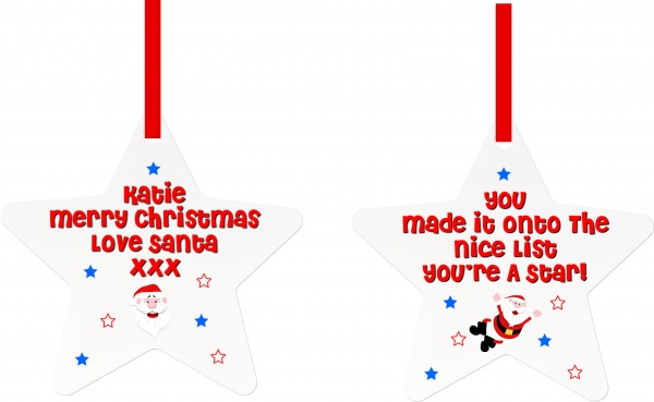 Personalised ''Nice List'' From Santa Christmas Decoration