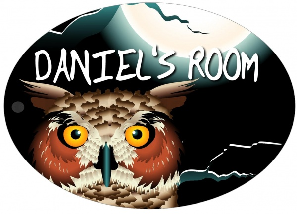 Personalised Owl Door Sign