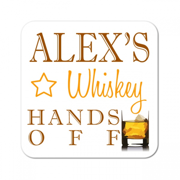 Personalised Whiskey Wooden Gift Drinks Coaster