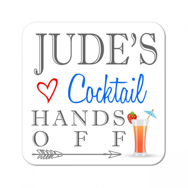 Personalised Cocktail Wooden Gift Drinks Coaster