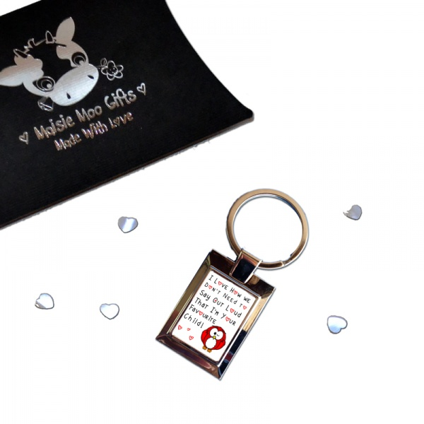 I Love How We Don't Need To Say Out Loud ... Metal Keyring In Gift Box