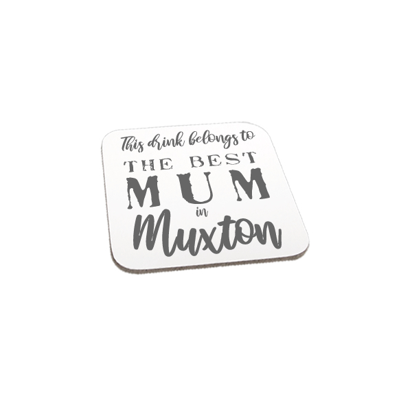 Personalised Best In Gift Coaster