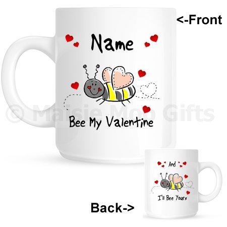 Personalised Bee Mine Valentines Day Gift Mug Personalised