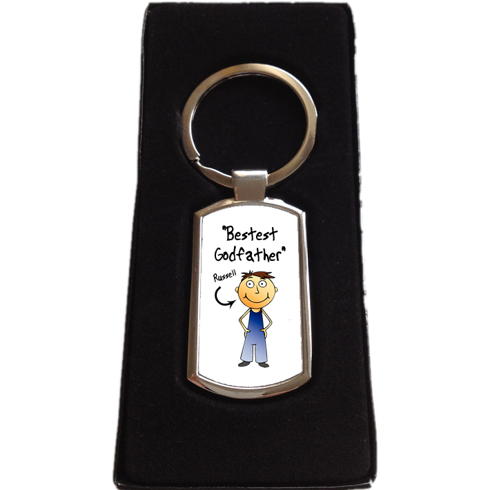 Personalised Godfather Keyring