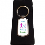 Personalised Fun Birthday Keyring