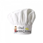 Dad BBQ King Chef Hat