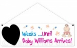 Personalised Countdown Baby Girl Plaque