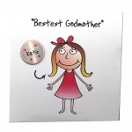 Personalised Bestest Godmother Christening Greeting Card
