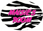 Personalised Zebra Print Door Plaque