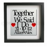 Together We Said I Do Personalised Metal Wall Art