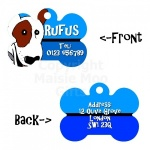 Cartoon Dog Style Personalised Double Sided Pet Tag