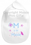 Personalised Alphabet Name Butterflies Bib