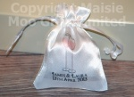 Personalised Champagne Glasses Favour Satin Pouches