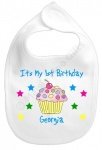 Personalised 1st Birthday Cherry Baby Bib