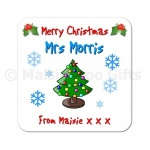 Personalised Christmas Teacher Coaster