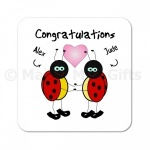 Personalised Congratulations Ladybird Coaster