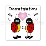 Personalised Congratulations Ladybird Magnet
