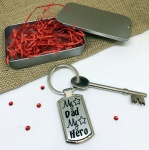 My Dad My Hero Metal Keyring In Gift Tin