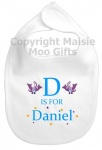 Personalised Alphabet Name Dinosaur Bib