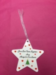 Amy - Christmas Tree Personalised Memorial Star Christmas Tree Decoration