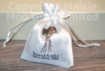 Personalised Flower Bouquet Favour Satin Pouches
