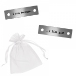 I Run Because I Like Gin! Metal Brushed Steel Trainer Runner Shoe Lace Tags