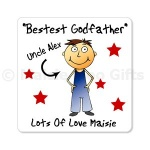 Personalised Godparent Fridge Magnet