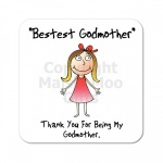 Godmother Thank You Coaster