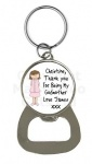 Personalised Godmother Bottle Opener Keyring