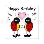 Personalised Happy Birthday Ladybird Magnet
