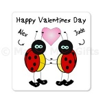 Personalised Happy Valentines Day Ladybird Magnet