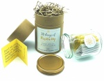 Positivity Gift Jar - 30 Days of Happiness Affirmations - Positive Vibes - Happiness Tasks - Positive Thinking - Friendship - Inspire - Powerful Thoughts  - Smiles - Kindness